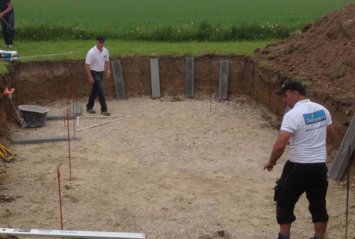 Swimmingpool bauen Aachen Vorbereitungen